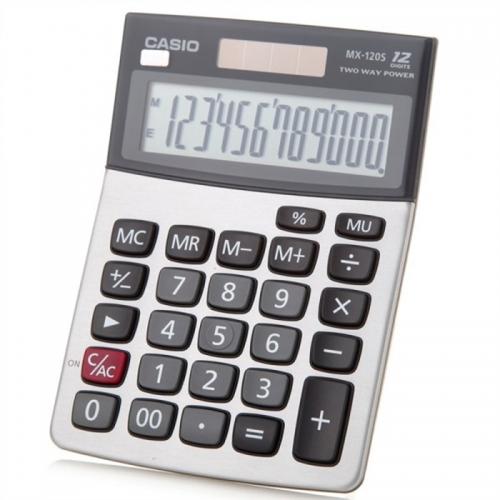 卡西欧(CASIO) MX-120S 日常商务计算器 灰