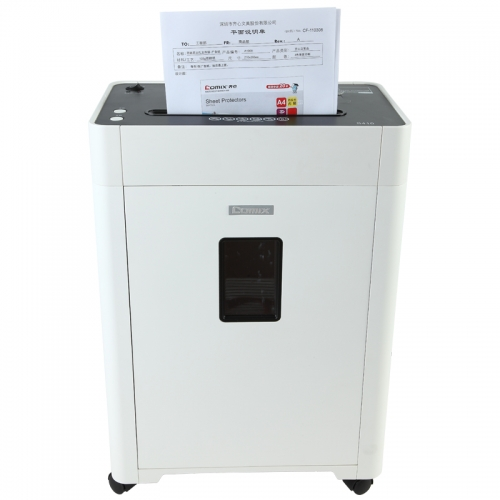 新万博 S410 高保密碎纸机 2×6mm/6张纸/19L/单入口/续航10分钟