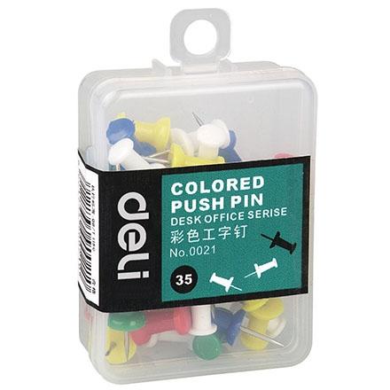得力0021彩色工字钉