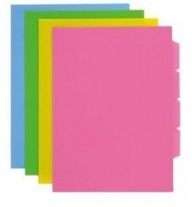 齐心A1726欢颜四页分类文件套A4文件夹 文件袋 一包5个