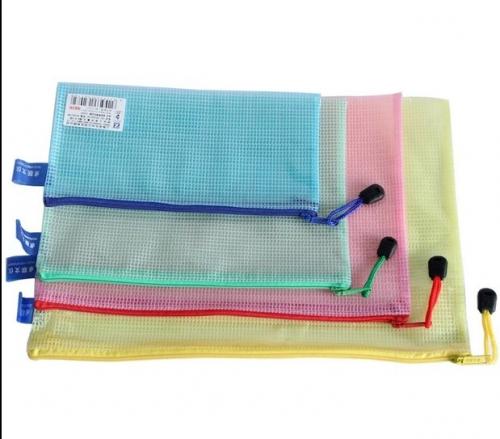 卓联ZL3203拉边袋A4网格拉边袋/拉链袋资料袋票据袋345235mm