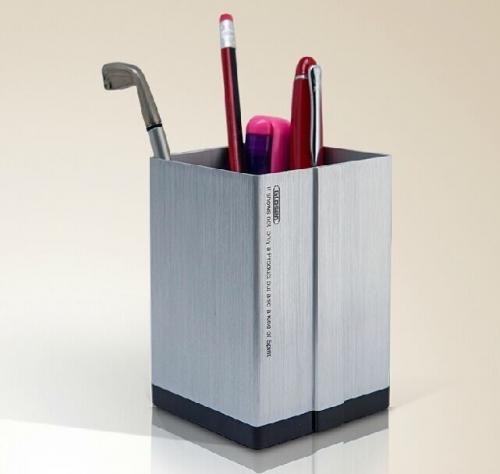 金隆兴方形铝合金笔筒 C2001