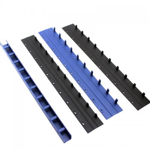 文仪易购 10孔夹条 塑料夹条 28mm装订夹条 硬夹条 黑/蓝 50支/盒