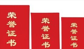 豪鑫绒面荣誉证书12K