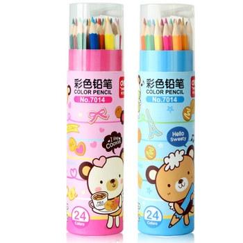得力彩色铅笔(24色) 7014