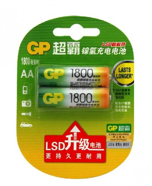 超霸充电电池 5号1800毫安
