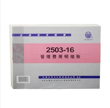 立信2503-16管理费用明细账16K