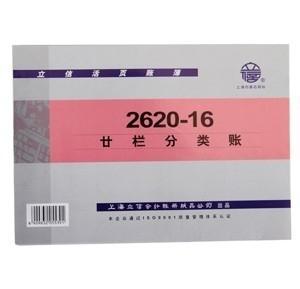 立信 2620-16 二十栏分类账 16K