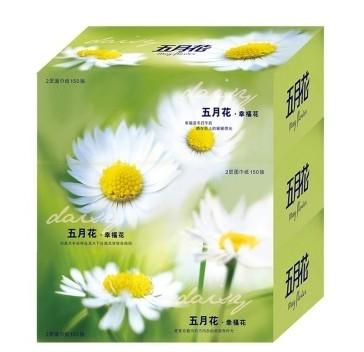五月花盒装抽纸150抽