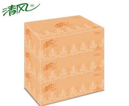 清风B338AF盒装抽纸200抽