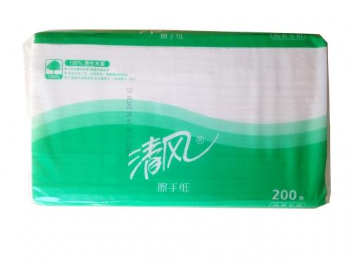 清风擦手纸B913A