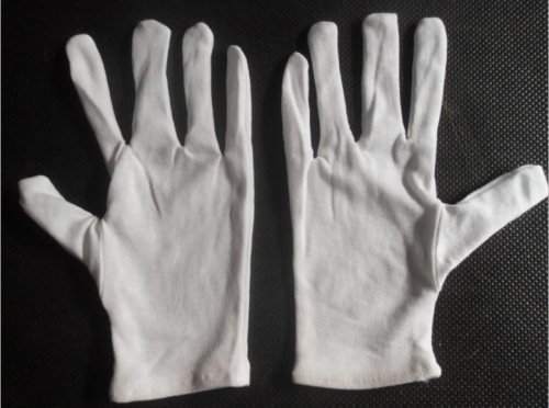 罗纹纯棉作业手套